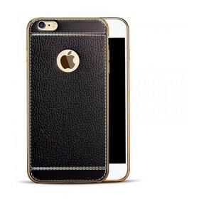 Husa Luxury Leather pentru iPhone 7+ Black