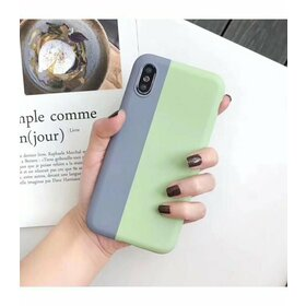 Husa magnetica din silicon pentru iPhone X/ XS Monster Green