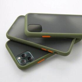 Husa mata cu bumper din silicon pentru Galaxy A20/ A30 Green