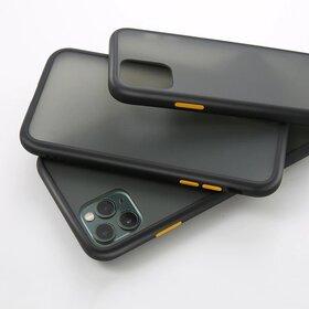 Husa mata cu bumper din silicon pentru Galaxy A40 Black