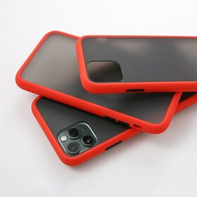 Husa mata cu bumper din silicon pentru Galaxy A40 Red
