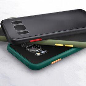 Husa mata cu bumper din silicon pentru Galaxy A70