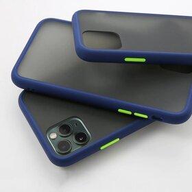 Husa mata cu bumper din silicon pentru Huawei Mate 30 Lite Blue