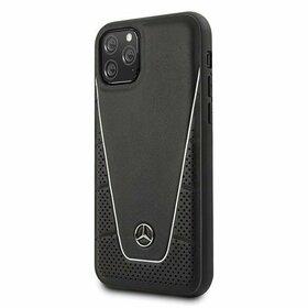 Husa Mercedes Neagra cu emblema argintie pentru iPhone 11 Pro Black