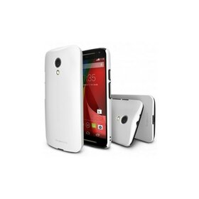 Husa Moto G 2nd Gen 2014 WHITE Ringke SLIM + BONUS folie protectie display Ringke