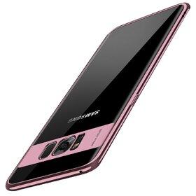 Husa Plating Transparenta pentru Galaxy S8 Rose Gold