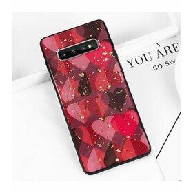 Husa protectie cu model inimi pentru Galaxy A6 (2018)