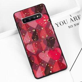 Husa protectie cu model inimi pentru Galaxy A8 (2018)
