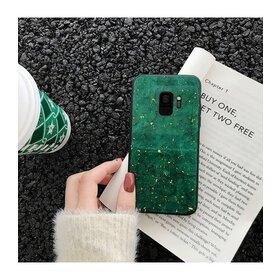 Husa protectie cu model marble pentru Galaxy A8 (2018) Plus Green