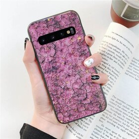 Husa protectie cu model marble pentru Galaxy J6 (2018) Pink