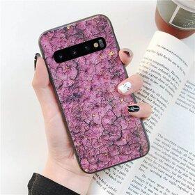 Husa protectie cu model marble pentru Galaxy S9 Pink
