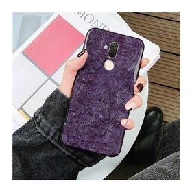 Husa protectie cu model marble pentru Huawei Mate 20 Purple