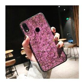 Husa protectie cu model marble pentru Huawei Mate 20 Pink