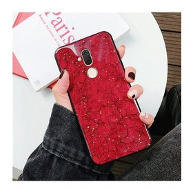 Husa protectie cu model marble pentru Huawei Mate 20 Red