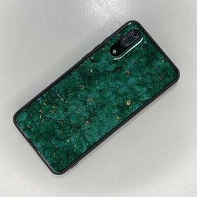 Husa protectie cu model marble pentru Huawei P20 Green