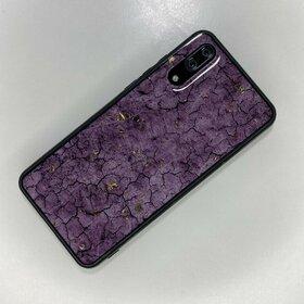 Husa protectie cu model marble pentru Huawei P20 Purple