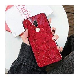 Husa protectie cu model marble pentru Huawei P20 Lite (2018) Red