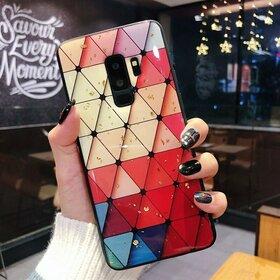Husa protectie cu model multicolor pentru Galaxy A8 (2018)