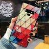 Husa protectie cu model multicolor pentru Galaxy A8 Plus (2018)