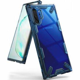 Husa Ringke Fusion X PC + Bumper TPU pentru Samsung Galaxy Note 10 Plus Blue