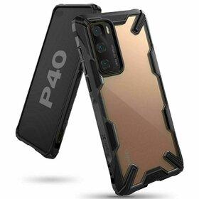Husa Ringke Fusion X PC + Bumper TPU pentru Huawei P40 Black