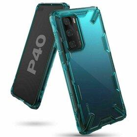 Husa Ringke Fusion X PC + Bumper TPU pentru Huawei P40 Blue