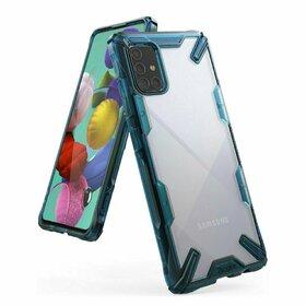 Husa Ringke Fusion X PC + Bumper TPU pentru Samsung Galaxy A71 Blue