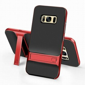 Husa Rock Royce Stand pentru Galaxy S8 Red