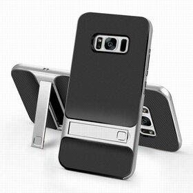 Husa Rock Royce Stand pentru Galaxy S8 Silver
