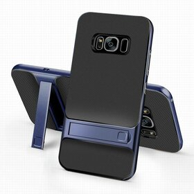 Husa Rock Royce Stand pentru Galaxy S8 Blue