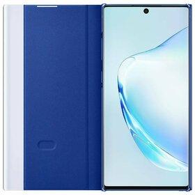 Husa Samsung Clear View cu functie Stand si Display Inteligent pentru Samsung Galaxy Note 10 Plus Blue