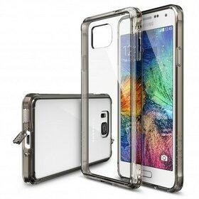 Husa Samsung Galaxy Alpha Ringke FUSION  SMOKE BLACK+BONUS folie protectie display Ringke
