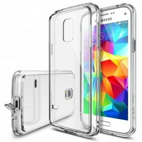 Husa Samsung Galaxy S5 Mini Ringke FUSION CRYSTAL VIEW+BONUS folie protectie display Ringke