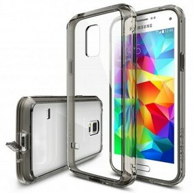 Husa Samsung Galaxy S5 Mini Ringke FUSION SMOKE BLACK+BONUS folie protectie display Ringke