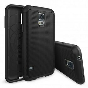 Husa Samsung Galaxy S5 Ringke ARMOR  DOT SF BLACK+BONUS folie protectie display Ringke