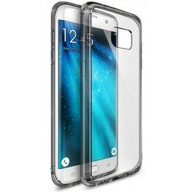 Husa Samsung Galaxy S7 Edge Ringke FUSION SMOKE BLACK TRANSPARENT