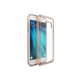 Husa Samsung Galaxy S7 Ringke FUSION ROSE GOLD + BONUS folie protectie display
