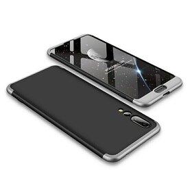 Husa Shield 360 GKK pentru Huawei P20 Black&Silver