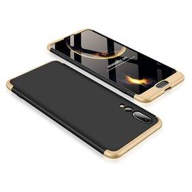 Husa Shield 360 GKK pentru Huawei P20 Pro Black&Gold