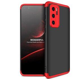Husa Shield 360 GKK pentru Huawei P40 Black&Red