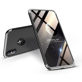 Husa Shield 360 GKK pentru iPhone XR Black&Silver