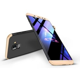 Husa Shield 360 GKK pentru Samsung Galaxy A8 (2018) Black&Gold