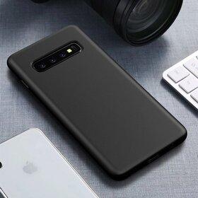 Husa Silicon Eco pentru Galaxy S10 Plus Black