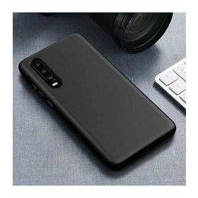 Husa Silicon Eco pentru Huawei P30 Black