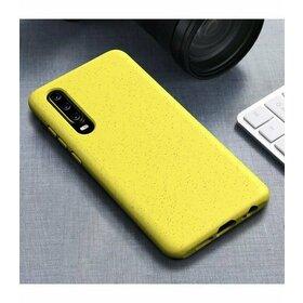 Husa Silicon Eco pentru Huawei P30 Yellow
