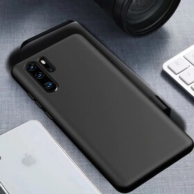 Husa Silicon Eco pentru Huawei P30 Pro Black