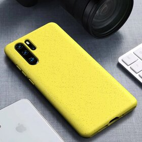 Husa Silicon Eco pentru Huawei P30 Pro Yellow