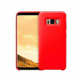 Husa Silicon Premium pentru Galaxy A8 (2018) Red