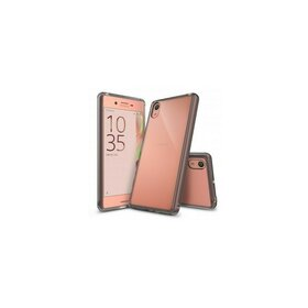 Husa Sony Xperia X Ringke FUSION SMOKE BLACK + bonus folie Ringke Invisible Screen Defender