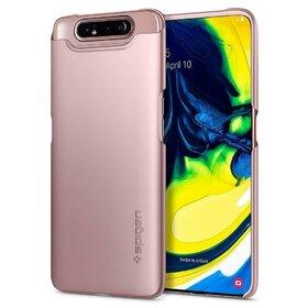 Husa Spigen Thin Fit pentru Samsung Galaxy A80 Rose Gold